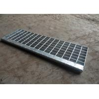 Hot Dip Galvanised Stair Treads , T1 / T2 / T3 / T4 Bar Grating Stair Treads Manufactures