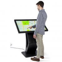 China Electronic Touch Screen Display Kiosk , Mall Display Kiosks With 10pt IR Screen on sale