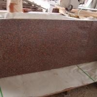 China Outdoor G562 Dark Red Granite Stone Tiles , Polished Granite Floor Tiles on sale