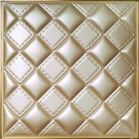 Hallway Background 3D Leather Wall Panels Wood Tile Imitation 500x500x3 mm Manufactures