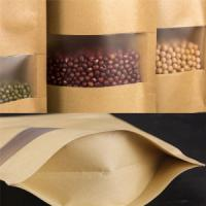 Kraft Paper Bag With Window 1
