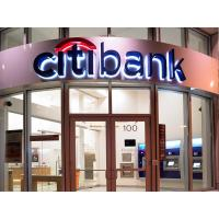 3D LED Day-Night Back-lit Acrylic Signs With Mirror Polished Letter Shell  For CitiBank Manufactures