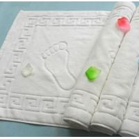 terry cloth white cotton hotel bath floor mat, bath foot towel,50*80cm bathroom floor towel Manufactures