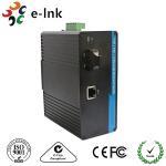 1-port 10/100/1000M Gigabit DIN-Rail Mount PoE Industrial Ethernet-to-fiber media converters Manufactures