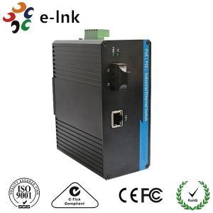 1 Port Optical Fiber Media Converter 10/100/1000M Gigabit IP40 Aluminium Alloy House Manufactures