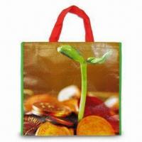 Nonwoven PP Shopping Bag with OPP Coating, Measuring 38 x 42 x 10cm Manufactures