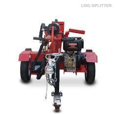 Petrol Hydraulic Trailer Mounted Log Splitter 4 Stroke 1050mm Multi Colors Available
