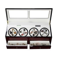 China 8 Slots Automatic Motor Wooden Watch Winder Automatic Watch Winder Leather Watch Winder 8 Slots Watch Winder on sale