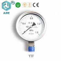 Bottom Connect 0-6 bar Stainless Steel Pressure Gauge for Gas Manufactures