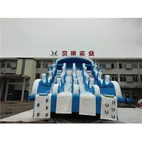 Giant Inflatable Water Slides For Swimming Pool , Adult Inflatable Water Park Slide Manufactures