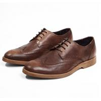 Buy cheap Comfortable Derby Mens Leather Casual Shoes , Breathable Soft Sole Shoes For Adults from wholesalers