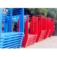 China Powder Coated Steel Stacking Racks , Warehouse Stackable Pallet Racks For Wheat on sale