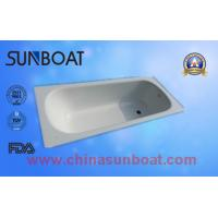 China home appliance cast iron white color built-in type enamel bathtub on sale
