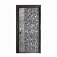 Aluminum Casting Security Door with SECC 1.2mm Door Frame and Adjustable Reinforced Hinges Manufactures