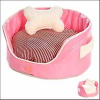 pink princess dog bed with bone pillow Manufactures