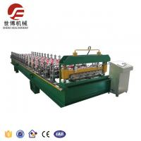 Trapezoide Rib Roofing Sheet Roll Forming Machine For Steel Roof Making With Elegant Appearance Manufactures