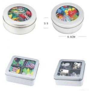 Thumbtack/paperclip/binder Clip Tin Pack Set Manufactures