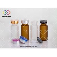Oral Liquid Mini Glass Bottles , Aromatherapy Glass Vials With Screw Caps Manufactures