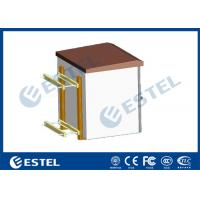 IP55 Pole Mount Cabinet Small Outdoor Metal Box With Equipment Tray Manufactures