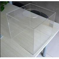 Home Custom Acrylic Products / Large Clear Plastic Storage Boxes for Food Manufactures
