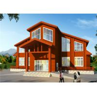 Villa Type Prefab Steel Building Homes Long Life Span Environmental Friendly Manufactures