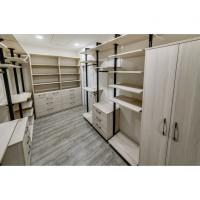 New Metal Plate Wardrobe Step-in Cloakroom Fashion Melamine cabinet panel Manufactures