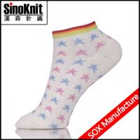 Stars Pattern Ladies Ankle Socks With Free Size , knee high socks Manufactures