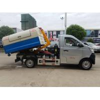 China Mini Changan Pull Arm Hook Lift Garbage Truck / Refuse Removal Truck 1CBM 2CBM on sale