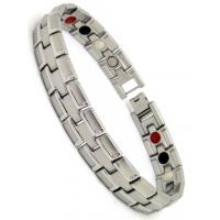 White FIR Magnetic stainless steel bangle bracelets / health magnetic bracelets Manufactures