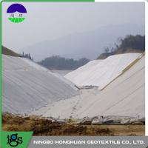 Railway Composite Geotextile Compounding Silk , Nonwoven Geotextile Manufactures