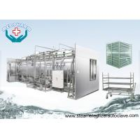 Recessed Wall Double Door Sterilizers With Water Pump For Water Recycling And Circulation Manufactures