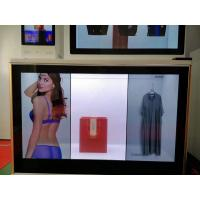 BARCOLED Transparent Lcd Wall Display Screen 6 Point Infrared Touch Panel With Scrolling Marquee Manufactures