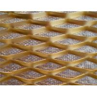 Gold Color Lightweight Expanded Metal Wire Mesh Uniform Hexagonal Hole for sale