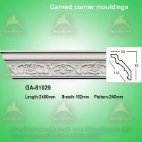 Fashion carved pu crown moldings cornice molding Manufactures
