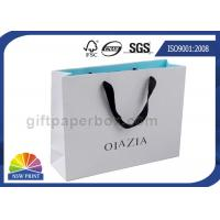 Grosgrain / Cotton Handle Shopping Paper Bags For Retail Promotion Manufactures