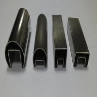 316 Stainless Steel Groove Tube or inox channel tube  for  Balustrade Manufactures