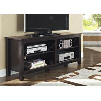 China Black Apartment Furniture Sets Tv Console Table With Adjustable Shelving , Dark Wood Tv Cabinet 16 X 58 X 24 Inches on sale