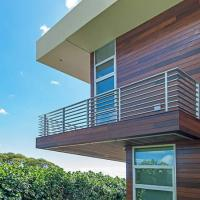 China Flooring Mounted and Stainless Steel Material balcony stainless steel railing design on sale