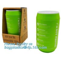 Coffee cup, PLA compostable cups, water cup, compostable cupcake coffee,