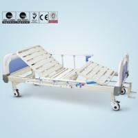 Double Cranks Manual Hospital Bed Adjustable With ISO / CE / FDA Certificate Manufactures