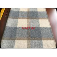 Wholesale 60 Wool 900G/M Double Sided 8CM Tartan / Plaid Fabric With Gray Twill Inside Coating Wool Fabric Manufactures