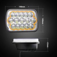 Good quality Off Road 45W 7 inch Epistar Chips LED headlight  with Colorful Ring and Strobe Model Manufactures