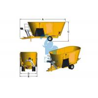 China Yellow Cattle Feed Grinder Mixer , High Speed Grain Feed Mixer Grinders For Livestock on sale