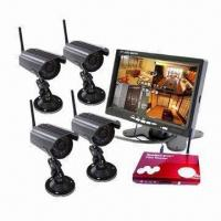 China Wireless DVR Security System with 7-inch LCD Monitor and 4 Cameras on sale