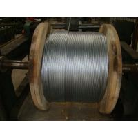 "3/8"" Galvanized Steel Wire Strand , Galvanized Guy Wire On Reel Packing Manufactures"
