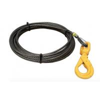 """5/8"""" Fiber Core Wire Rope And Sling Winch Cables With Swivel Self Locking Hooks Manufactures"""
