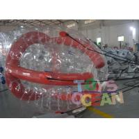 Funny Red Color Inflatable Barf Ball Water Tube Playing On Water Manufactures