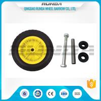 Yellow Color Inflatable Caster Wheels Plastic Bush Bearing Stright Vales 6PR Manufactures