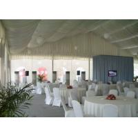 White Canvas Outdoor Wedding Tent With Chairs And Tables , Large Party Tent Manufactures