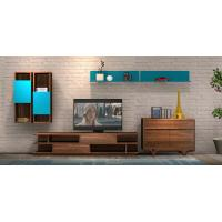2017 New Living room Furniture TV Wall Unit Floor stand Hang cabinet in MDF melamine with High glossy panel Manufactures